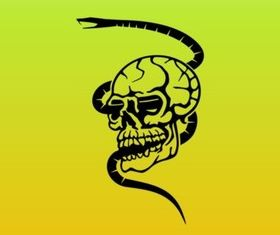 Skull and Snake Graphics vectors graphic