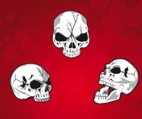 Mean Skulls vector graphics