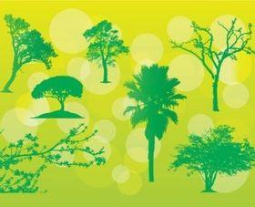 Free Tree Illustrations set vector