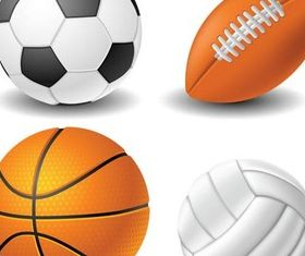 Different Sport Balls Illustration vector