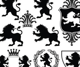 Stylish Heraldic Signs 3 design vector