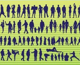 Active Silhouettes vector