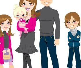 Happy Family 2 vector