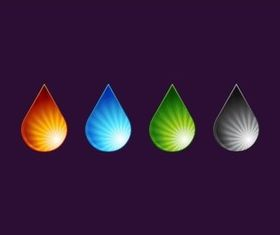 Color Drops set vector