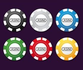 Poker Chips vector graphic