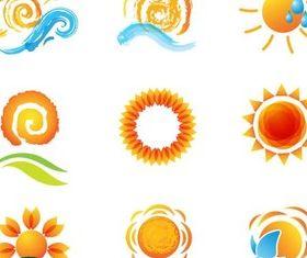 Shiny Travel Symbols vector