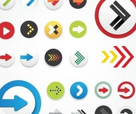 Shiny Arrows Icons free vector