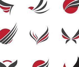 Stylish Wings Logo art vector