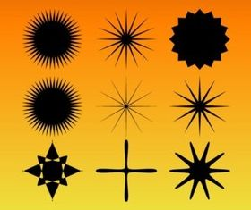 Star Burst Set vector design