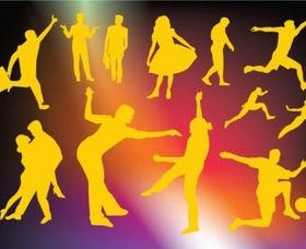Active People Graphics vector