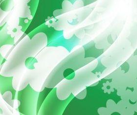 Green Satin Flowers background vector