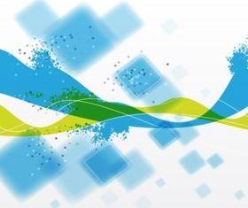 Blue Squares design vector