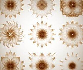Circular Floral Elements art vector