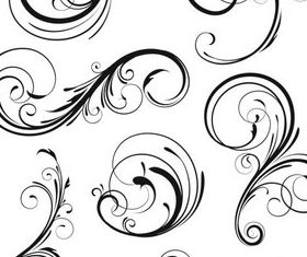 Ornate Floral Elements (Set 12) vector graphics