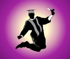 Jumping Graduate shiny vector