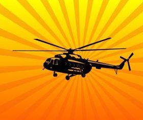 Helicopter Art vectors graphics