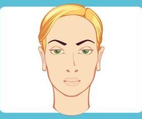 Female Head vector