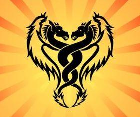 Twin Dragon vector