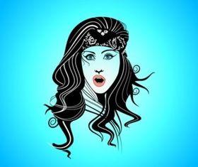 Gypsy Girl vector