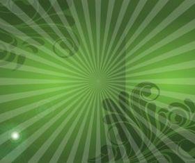 Green Swirls background shiny vector