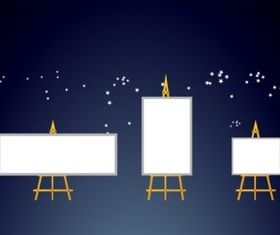 Painting Easel Illustration vector