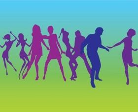 Dancers Silhouettes vector