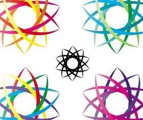 Abstract Circle Logo art vector