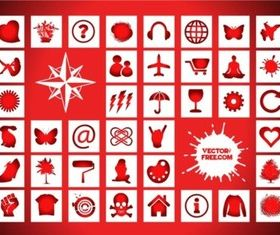 Icons Signs Freebies vector set