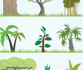Cartoon Tree Pack vector graphics