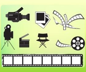 Movie Making Graphics vector set
