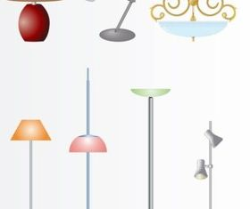 Lamps And Lights vector