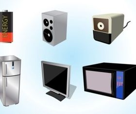Electrical Appliances vectors graphics