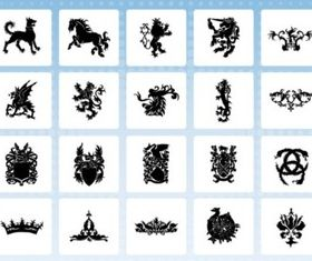 Heraldry Icon vector material