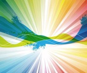 Color Spectrum Background set vector