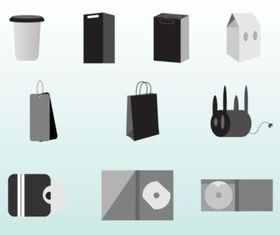 Packaging Set vectors
