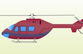 Red Helicopter Clip Art vector