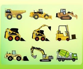 Construction Vehicles set vector