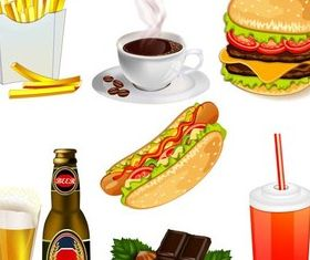 Fastfood graphic vector