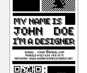 8 Bit Business Card vector