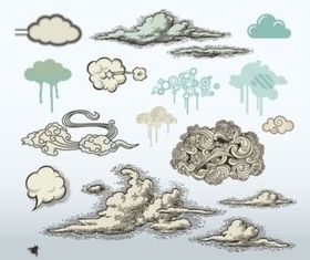 Cloud Art vectors graphics