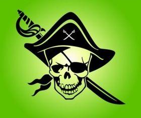Pirate Skull Emblem vector