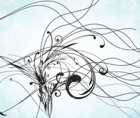 Abstract Doodle background vector graphics