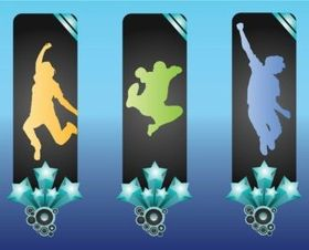 Active People Banners Illustration vector