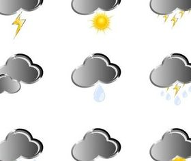 Gray Weather Icons art vector