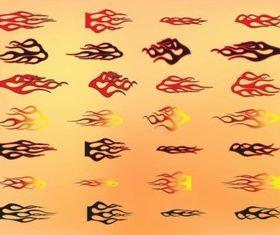Tribal Flames design vector