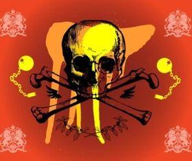 Grunge Skull Graphics vector