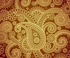 Gold Damask background vectors graphics