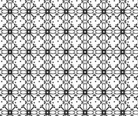 Black And White Flowers set vector