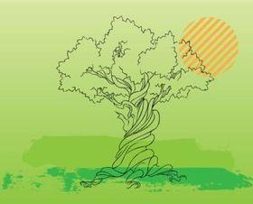 Tree Illustration design vector