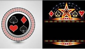 Casino Backgrounds 9 vector design